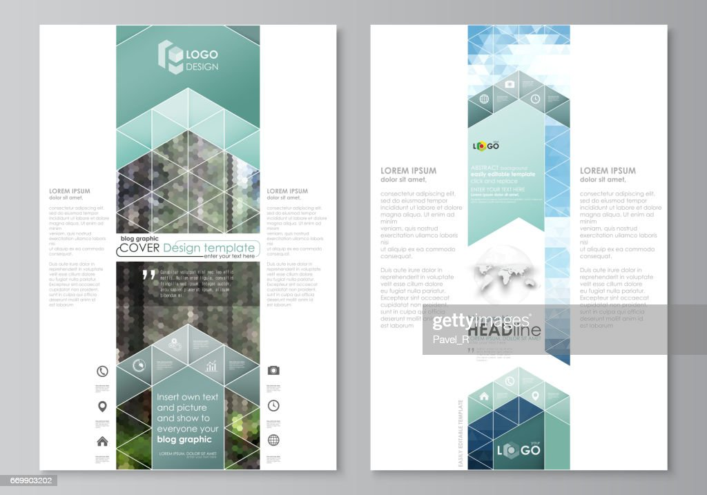 Blog Graphic Templates Page Website Design Template Abstract Vector ...