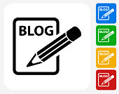 Blog Icon Flat Graphic Design