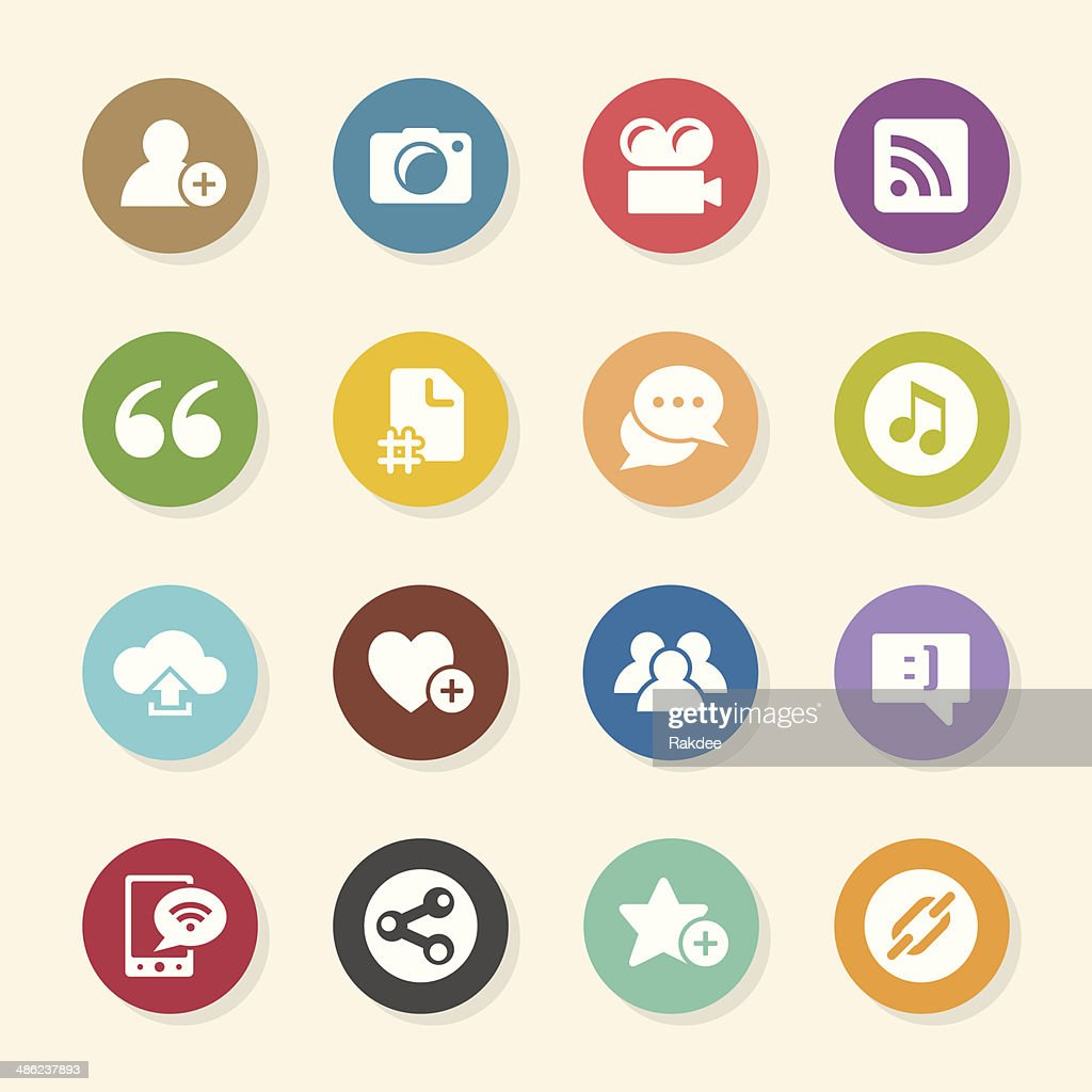 Blog Icons - Color Circle Series