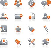 Blog & Internet icons - Graphite Series