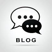 blog speech bubbles concept