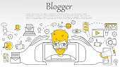 Blogger concept banner