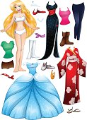 Blond Girl Princess Dress Up