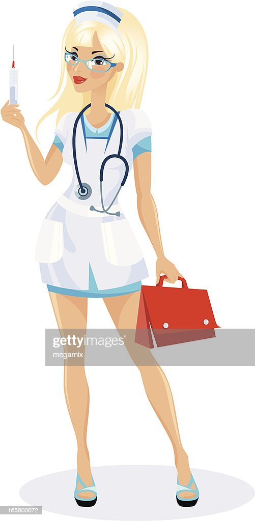 Infirmière Blonde Illustration - Getty Images