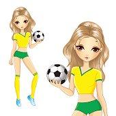 Blonde Brazilian Soccer Girl