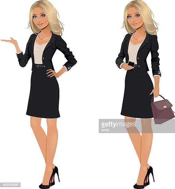Blonde Femme d'affaires