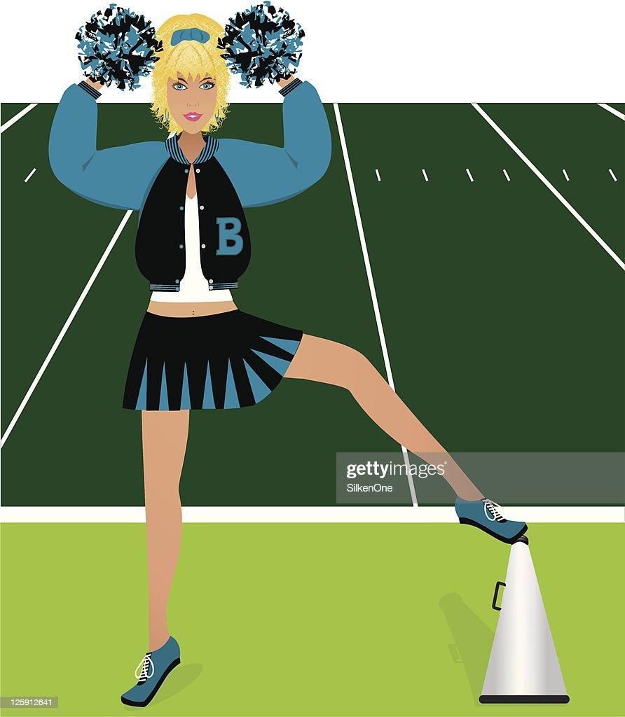 Blonde Cheerleader : stock illustration