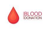 Blood Donation background. Blood drop in paper style.
