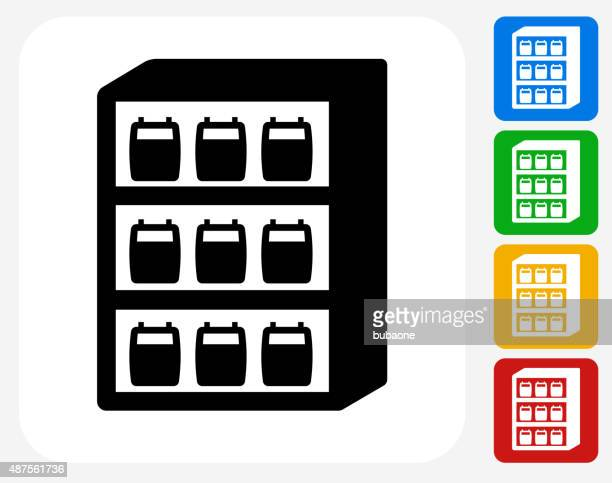 blood donation inventory icon flat graphic design - blood bank stock illustrations