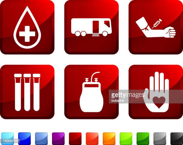 blood donation royalty free vector icon set stickers