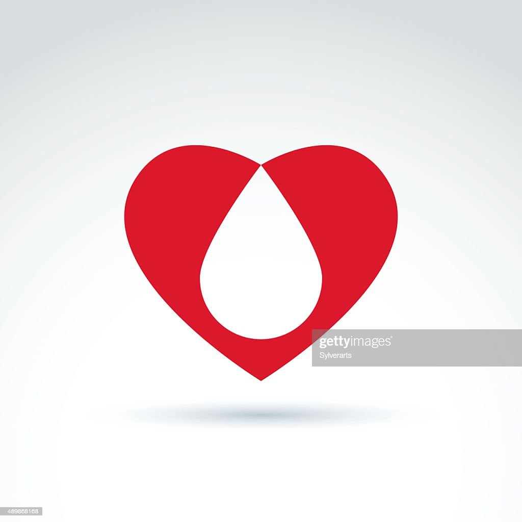 Blood donation symbol with heart and blood drop vector icon vector blood donation symbol with heart and blood drop vector icon vector art buycottarizona