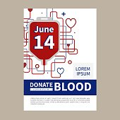 Blood donation vector illustration.
