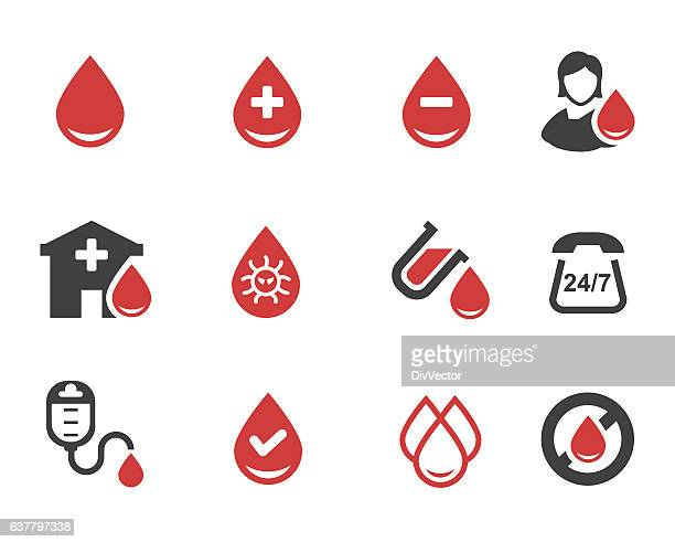 blood donation vector - blood bag stock illustrations, clip art, cartoons, & icons