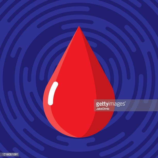 blood drop icon flat - blood bank stock illustrations