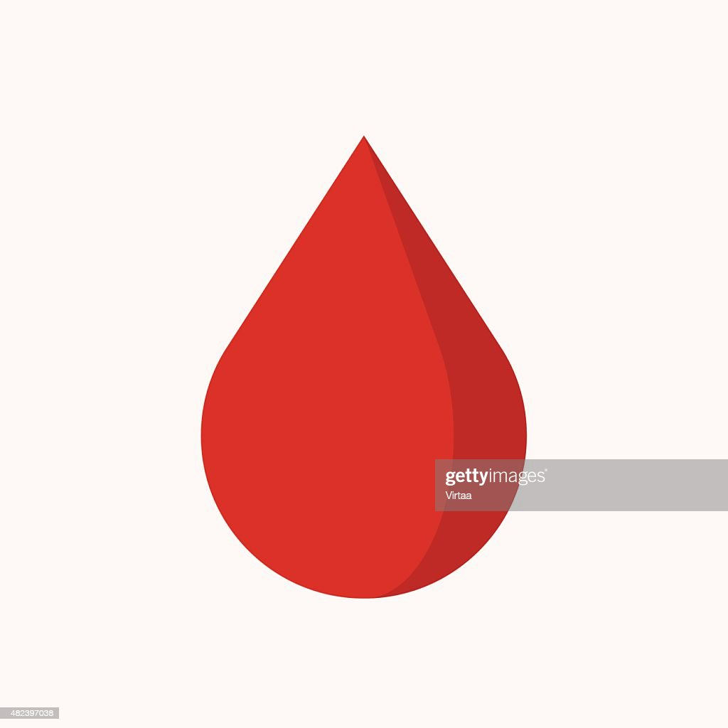 Blood drop icon, modern minimal flat design style, vector illustration