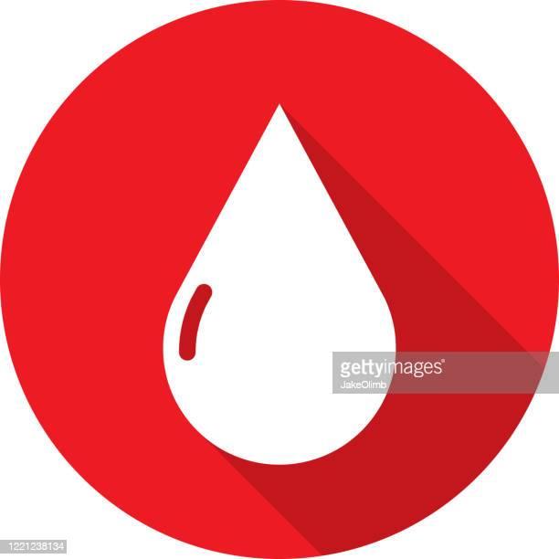 ブラッドドロップアイコンシルエット - 血しぶき点のイラスト素材/クリップアート素材/マンガ素材/アイコン素材