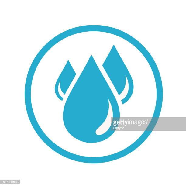 blood drops icon - water stock illustrations
