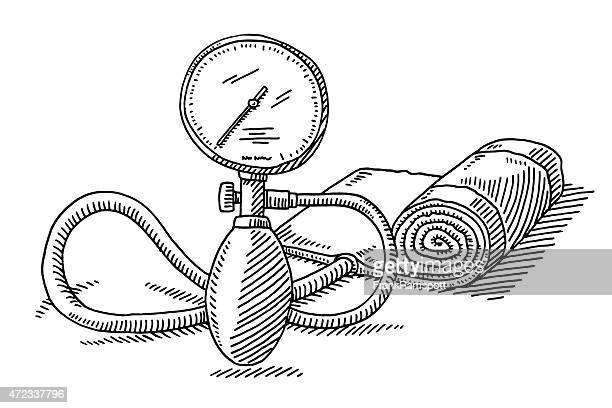 Blood Pressure Gauge Stock Illustrations and Cartoons