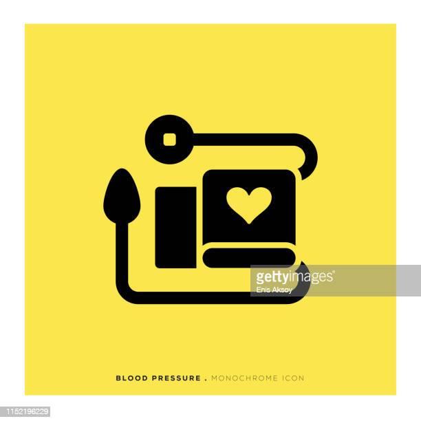 ilustraciones, imágenes clip art, dibujos animados e iconos de stock de icono de presión arterial - cardiólogo