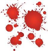 blood set Vector