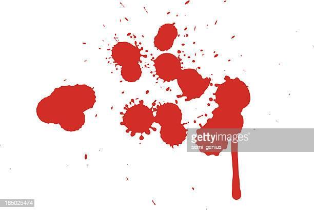 blood splatter-vector - splattered stock illustrations