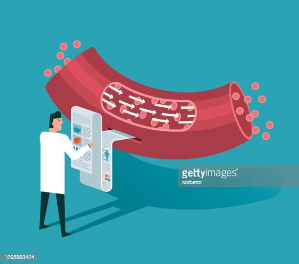 blood vessel - sclerosis stock illustrations