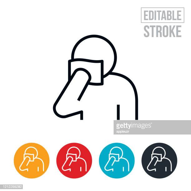 blood vial sample thin line icon - editable stroke - coughing stock illustrations