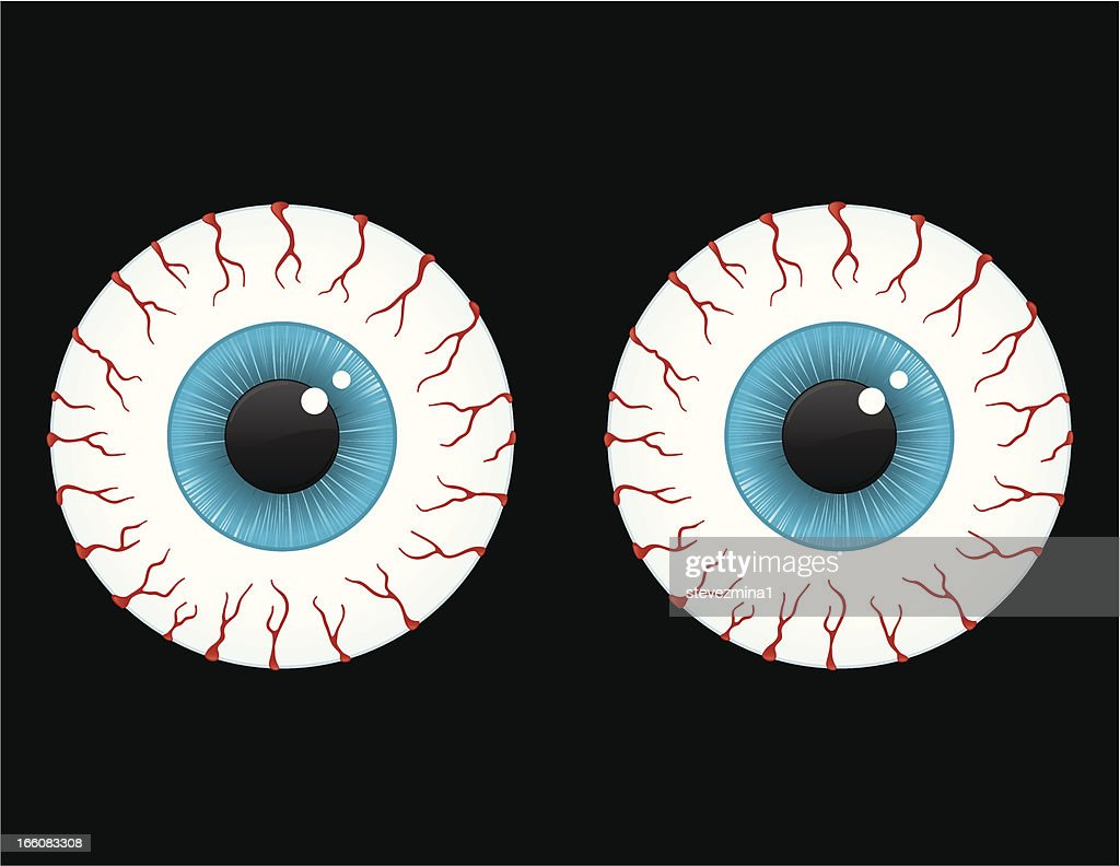 Bloodshot eyes : stock illustration