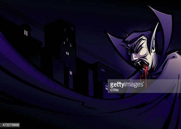 ilustraciones, imágenes clip art, dibujos animados e iconos de stock de hoy vampiro - vampiro