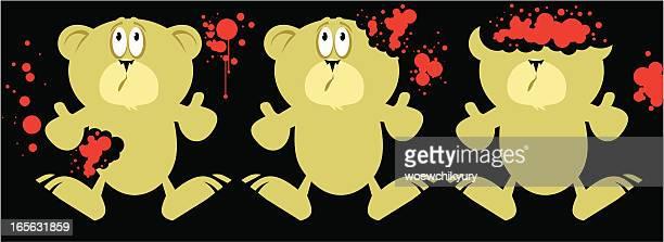 ilustraciones, imágenes clip art, dibujos animados e iconos de stock de osos de sangrientos - maltrato infantil