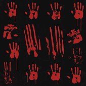Bloody Hand Print Element Set 01