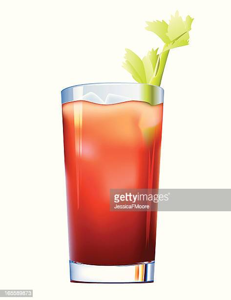 bloody mary - juice drink stock illustrations, clip art, cartoons, & icons