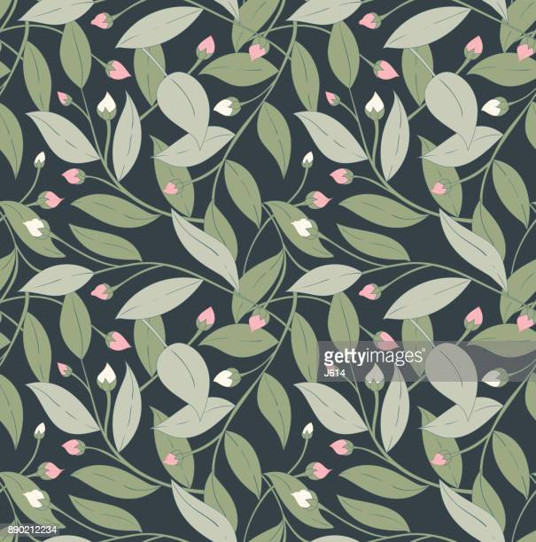 bloom - floral pattern stock illustrations