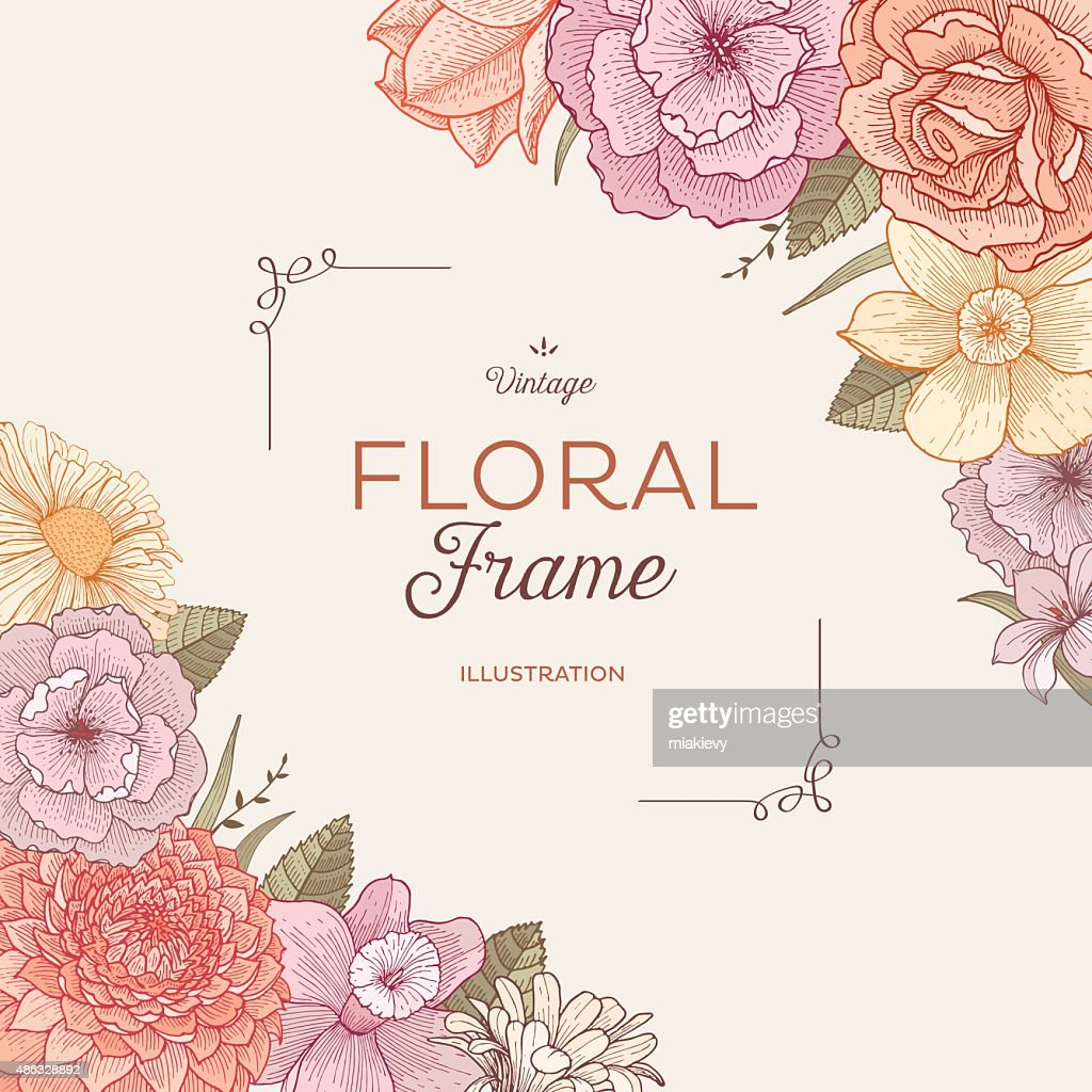 Blooming corners : stock illustration