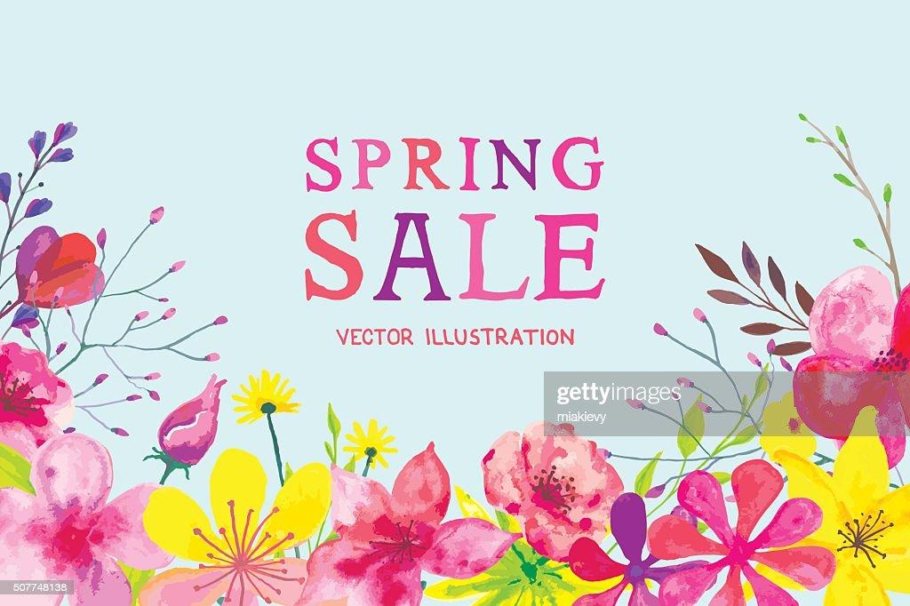 Blooming Spring Banner : Vector Art