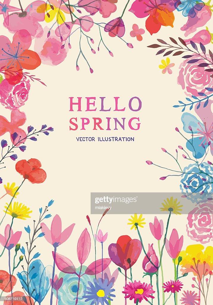 Blooming spring frame