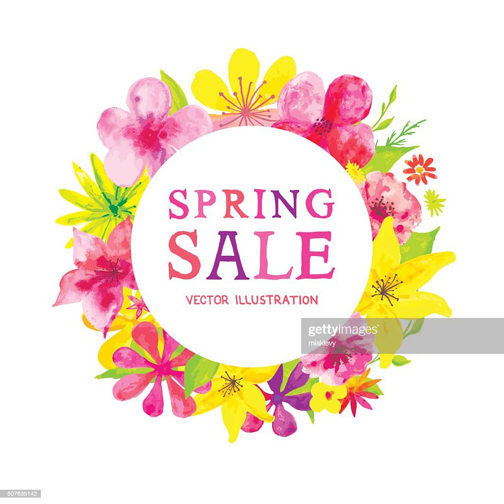 Blooming Spring Sale : stock illustration