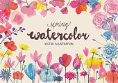 Blooming watercolors