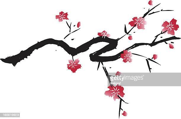 illustrations, cliparts, dessins animés et icônes de design fleuri - estampe japonaise
