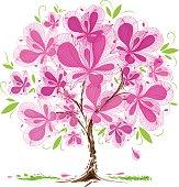 Blossom tree design, vector illustration