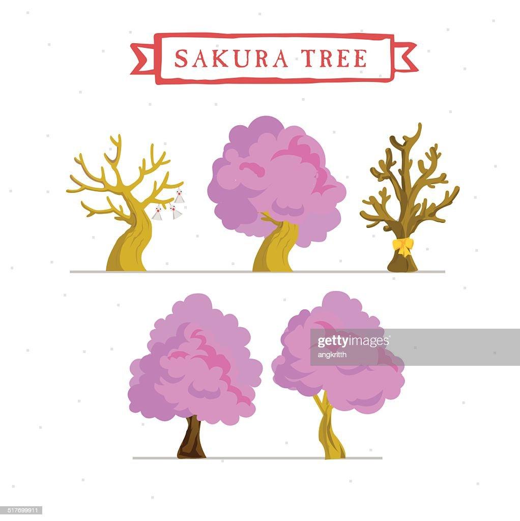 blossom tree - vector illustration