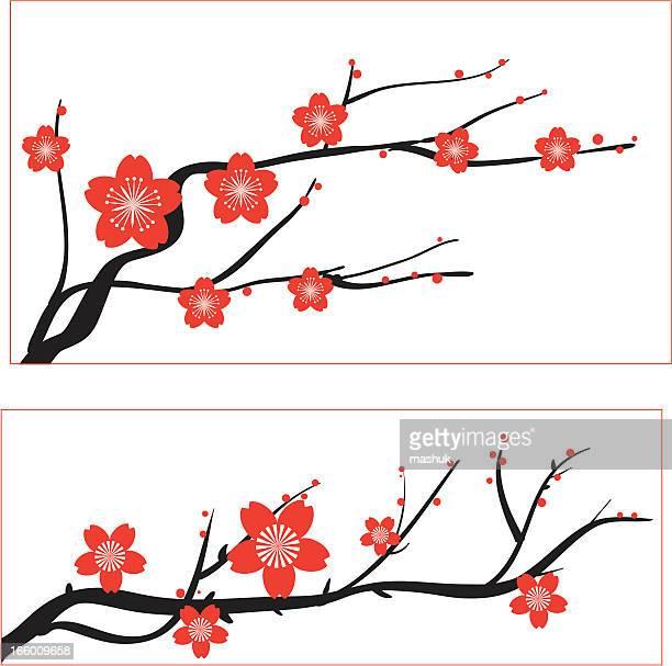 60点の梅の花のイラスト素材クリップアート素材マンガ素材アイコン