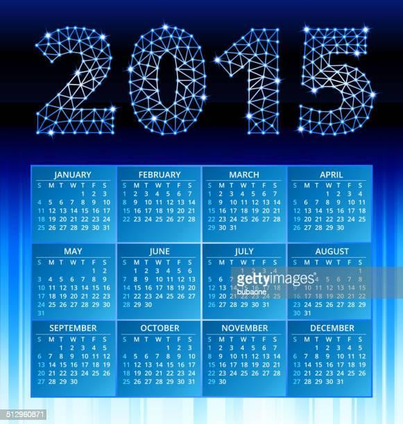 Blue 2015 Kalender mit Triangluar Design