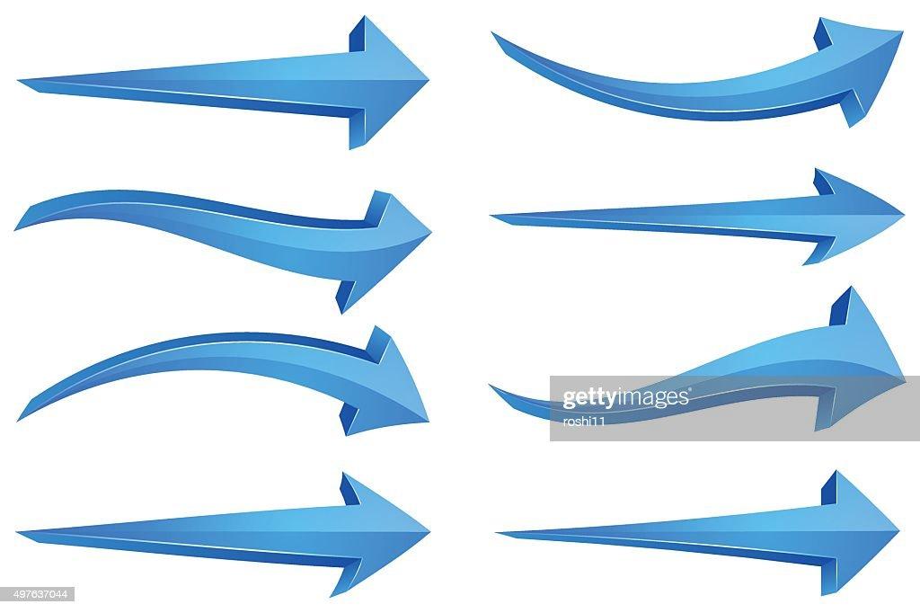 Blue 3D Arrows