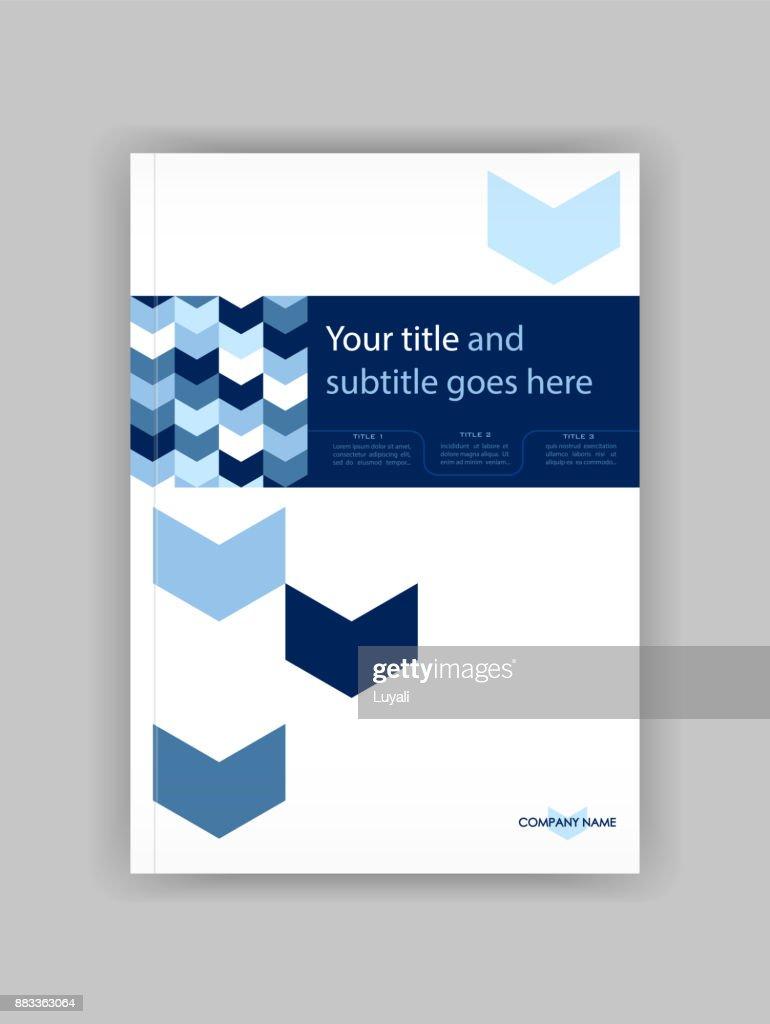 Blau A4 Business Book Cover Designvorlage Gut Für Portfolio ...
