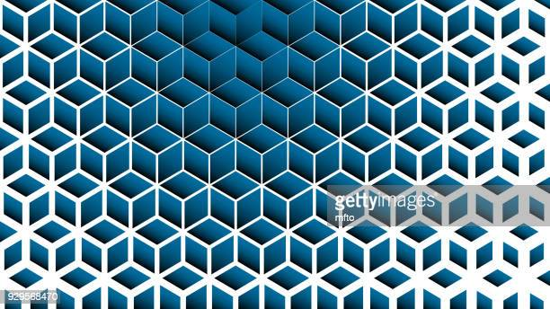 blue abstract background - rhombus stock illustrations