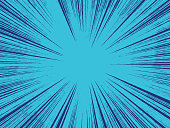 Blue Abstract Explosion