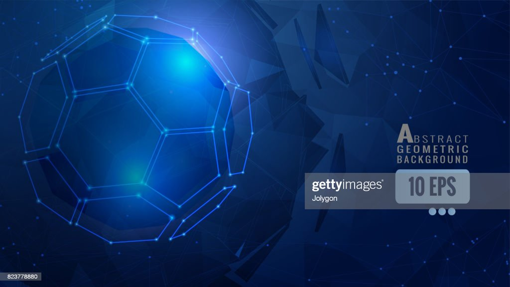 Blue abstract geometric background template