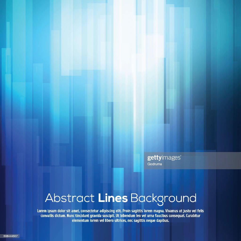 Blue abstract lines business vector background.