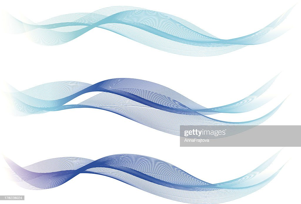 Blue Abstract Lines - Waves